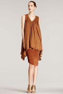 Donna Karan New York Ruched Jersey Skirt - Lyst