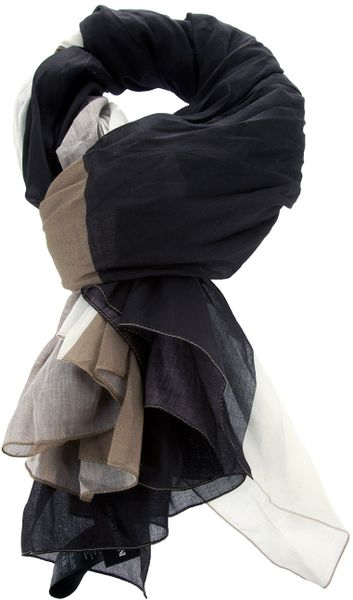 Giorgio Armani Cotton Scarf in Brown for Men - Lyst
