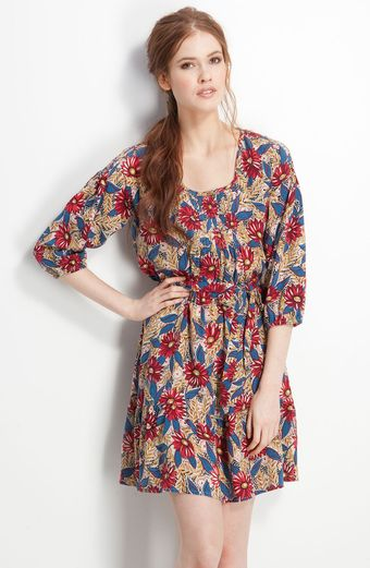 Lucky Brand Claudette Floral Print Dress - Lyst