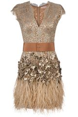 Matthew Williamson Feather and Crystal-embellished Dress