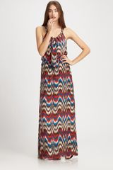 Parker Silk Zig-zag Dress