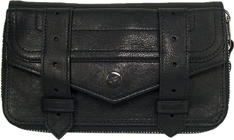 Proenza Schouler Ps1 Large Zip Wallet in Black in Black - Lyst