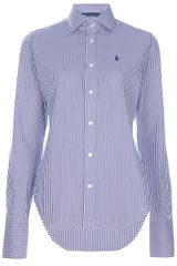 Ralph Lauren Blue Label Fitted Cotton Shirt in Blue (purple) - Lyst