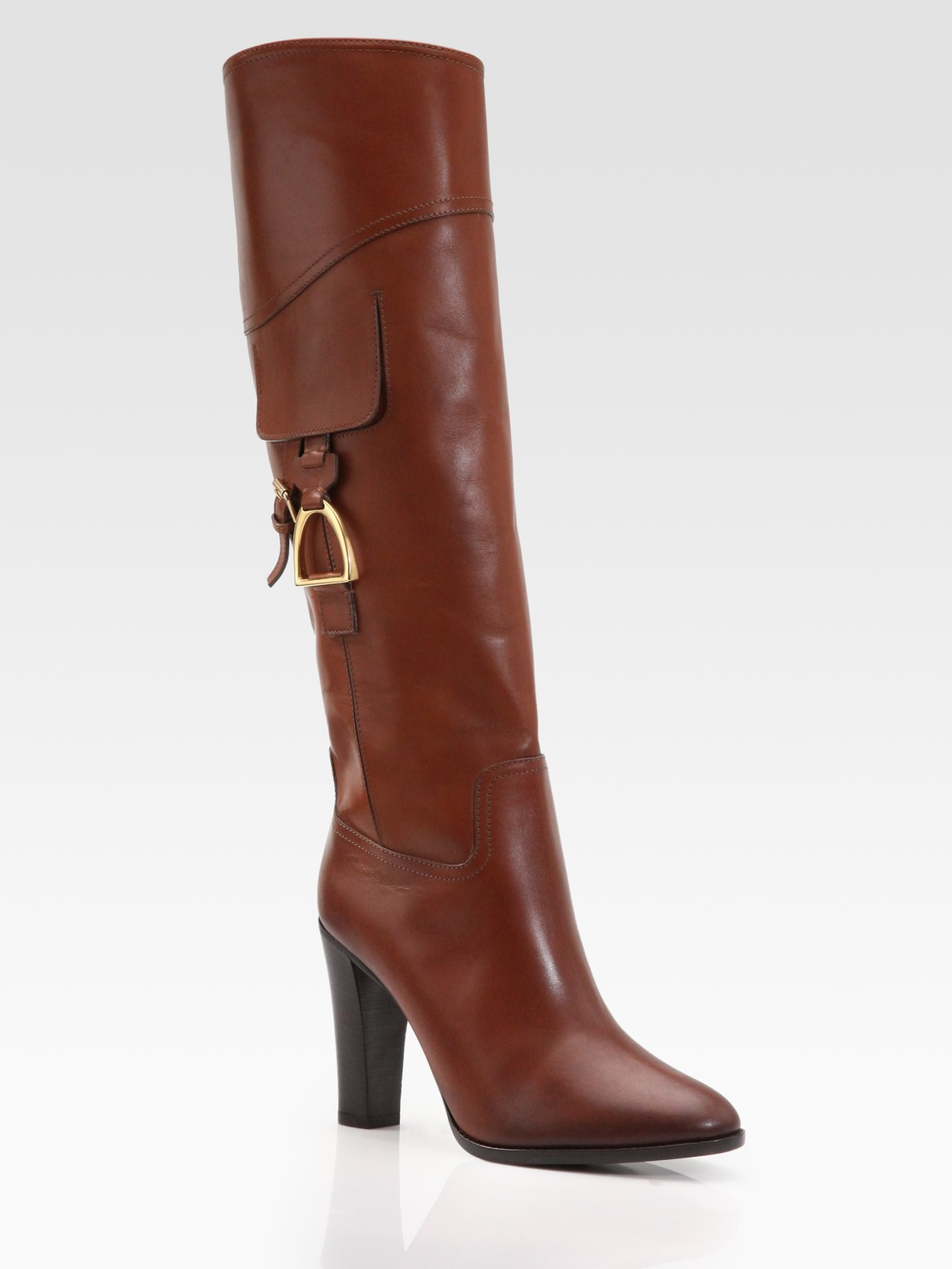 Gucci - tess leather horsebit boot 358215A3N002140   Boots
