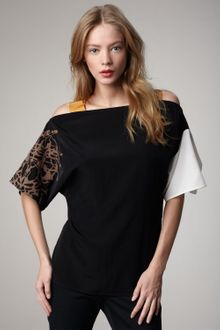 Sachin & Babi Angelica Mixed-Sleeve Top - Lyst
