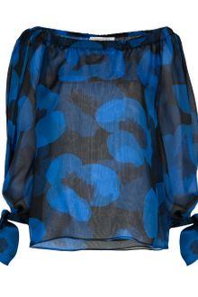 Yves Saint Laurent Printed Silk Blouse - Lyst