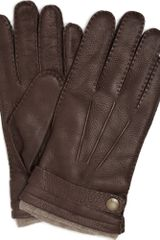 Dents Cashmere-lined Leather Gloves - Lyst