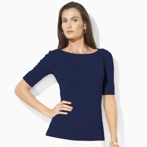 vast selection official price store Lauren by Ralph Lauren Blue Benny Elbow-sleeve Shirt