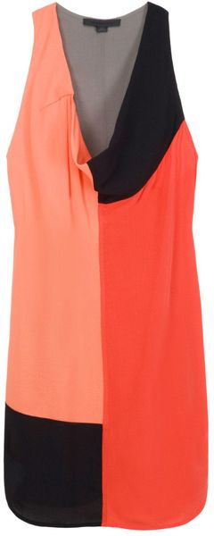 Alexander Wang Colour Block Tank Dress in Gray - Lyst