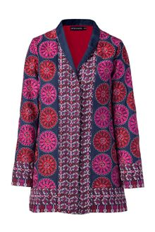 Antik Batik Blue Multicolor Embroidered Jacket - Lyst