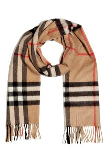 Burberry Camel Giant Check Icon Scarf - Lyst