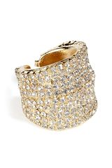 Dannijo Golden Swarovski Crystals Ring in Gold - Lyst