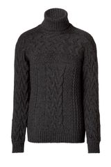 D&g Anthracite Grey Turtleneck Pullover in Gray for Men (anthracite) - Lyst