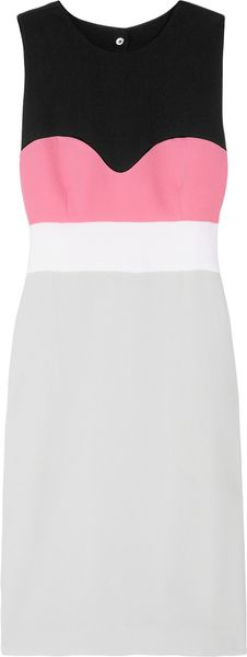 Diane Von Furstenberg Tamika Color-block stretch-crepe dress - Lyst