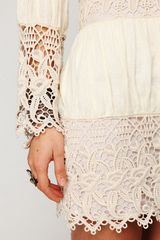 Free People Romantic Insets Dress in White (ivory) - Lyst