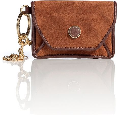 Marc By Marc Jacobs Log Cabin Brown Suede Mirror Pouch in Brown - Lyst