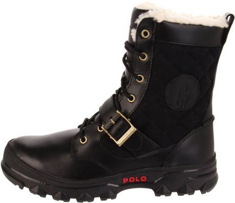 polo ralph mens hayward hiking boot in black for