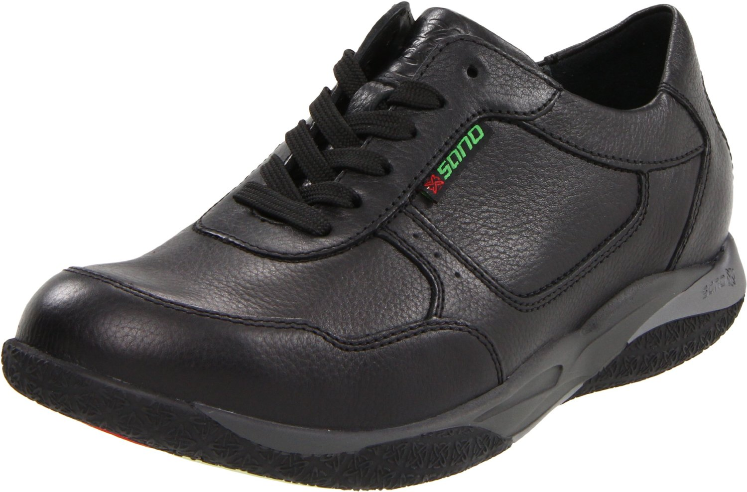 mephisto mens ace walking shoe in black for black