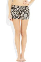 Stella Mccartney Ilda Driving Printed Stretch SilkSatin Sleep Shorts in Floral (black) - Lyst