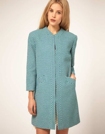 ASOS Collection Asos Zig Zag Coat - Lyst