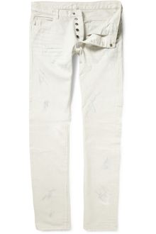 Balmain Distressed Slim-fit Jeans - Lyst