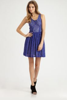 Cut25 Lace Racerback Dress - Lyst
