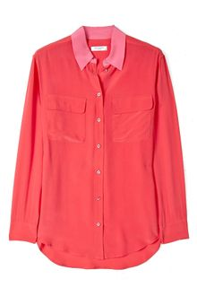 Equipment Hibiscus Silk Signature Shirt - Lyst