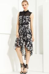 Jason Wu Floral Print Pleated Shirtdress - Lyst