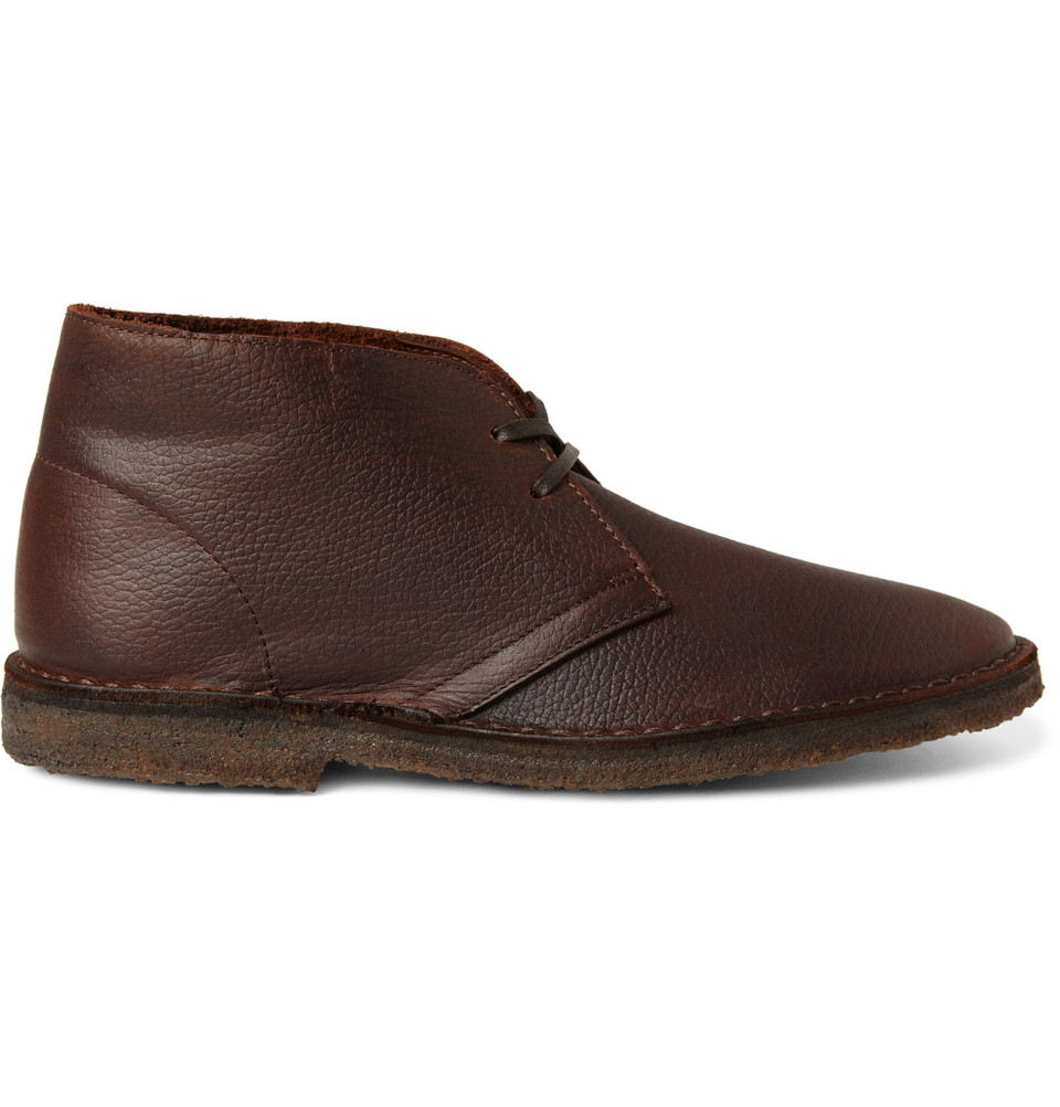 j crew leather macalister desert boots in brown for