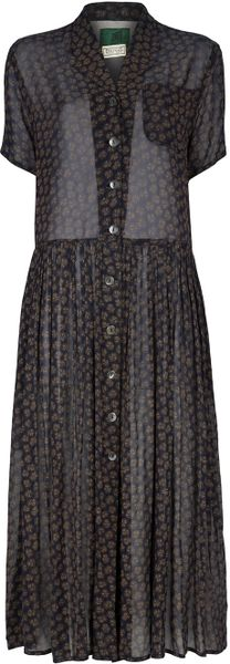 Jean Paul Gaultier Floral Pattern Dress in Brown (floral) - Lyst