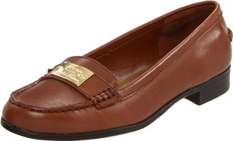 Lauren By Ralph Lauren Lauren Ralph Lauren Womens Gratia Slip-on Loafer in Brown (polo tan) - Lyst