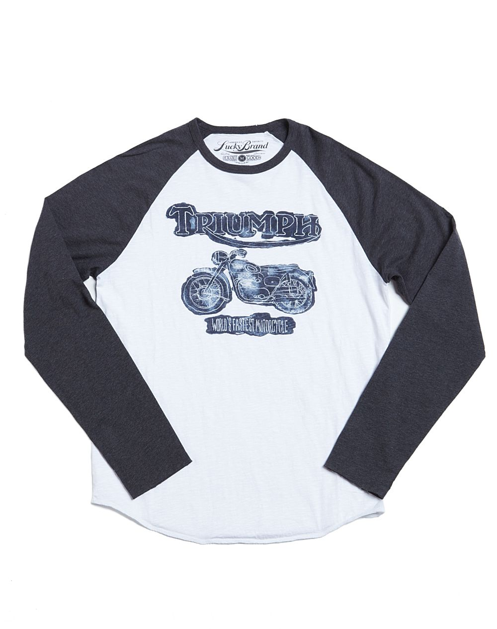 Lucky brand triumph worlds fastest motorcycle t shirt in for Lucky brand triumph shirt
