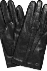 Mulberry Cashmere-lined Leather Gloves - Lyst