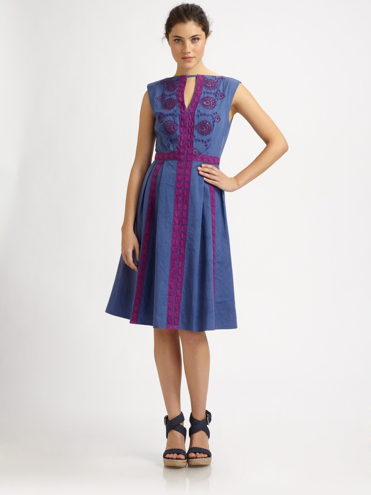 Lyst Nanette Lepore Jump Rope Dress In Blue