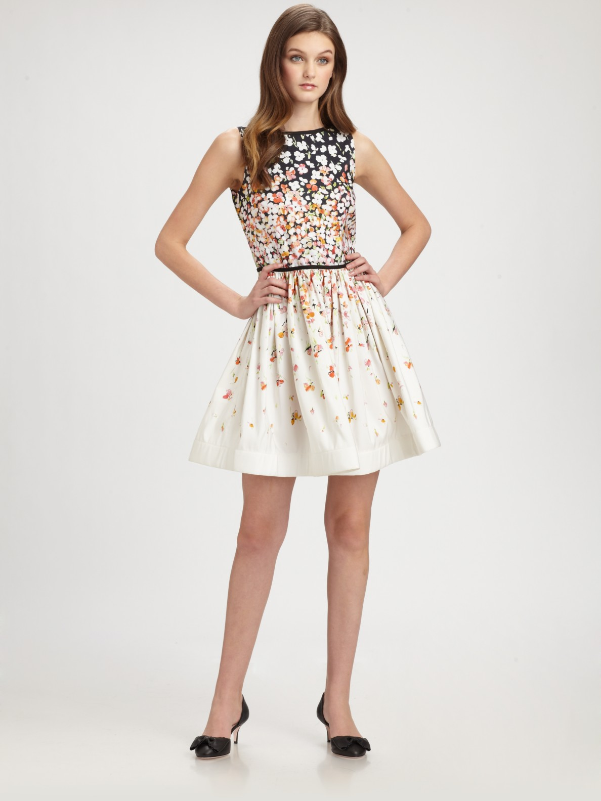 Lyst Red Valentino Floral A Line Dress