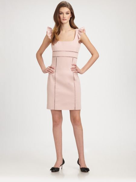 Red Valentino Rufflesleeve Dress in Pink - Lyst