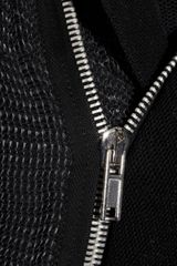 Rick Owens StretchWeave And StructuredMesh Jacket in Black - Lyst