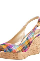 Stuart Weitzman Colorful Wedge Sandal - Lyst