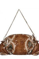Zagliani New Greta Pyton Shoulder Bag - Lyst