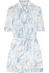 Alice By Temperley Seraphine Printed Cotton Playsuit - Lyst