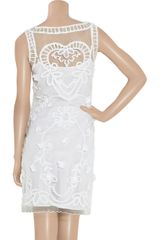 Alice By Temperley Fabienne Appliquéd Tulle And Crepe Dress in White - Lyst