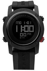 Burberry Digital Rubber Strap Watch - Lyst