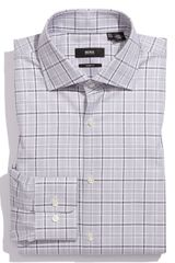 Hugo 'Miles'Sharp Fit Dress Shirt in Gray for Men (grey) - Lyst