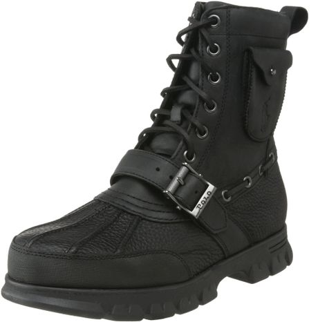 polo ralph mens hamlin ankle boot in black for