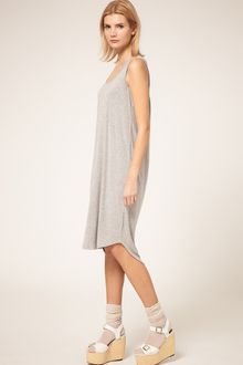 ASOS Collection Midi Summer Dress With Dipped Back Hem - Lyst