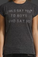 Zoe Karssen Girls Say Yes Tee in Gray (neps jersey) - Lyst
