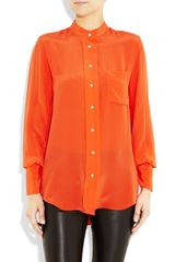 3.1 Phillip Lim Silk Crepe De Chine Shirt in Orange - Lyst