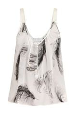 A.L.C. Feather-print Top - Lyst