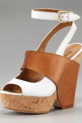 Ash Colorblock Cork Wedge Sandal - Lyst