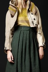 Burberry Prorsum Cropped Crochet Beaded Parka in Beige (trench melange) - Lyst